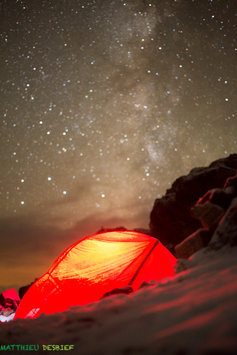 The tent and the milky way